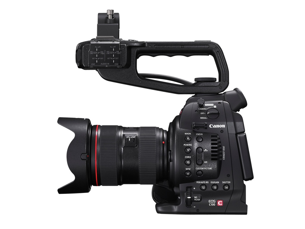 EOS C100 HANDLE SIDE RIGHT